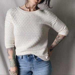 BANANA REPUBLIC Popcorn Knit Half Sleeve Sweater